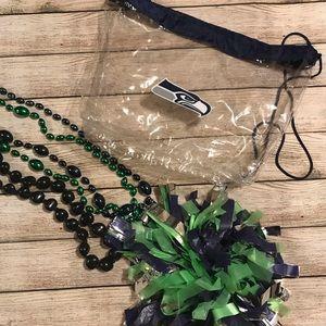 Seahawks Spirit Bundle - Clear Bag/Beads/Pom Pom